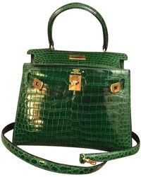 Hermès Kelly Mini Echse Handtaschen - Grün