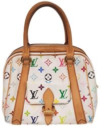 Louis Vuitton Sac à main Priscilla en Toile Blanc - Multicolore
