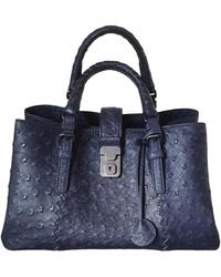 Bottega Veneta Roma Vogelstrauß Handtaschen - Blau
