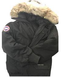 Canada Goose Chilliwack Black Fur Coat