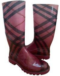 Burberry Wellington Boots - Pink
