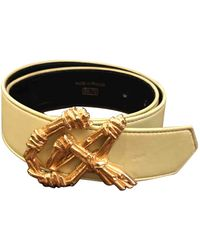 Christian Lacroix Leather Belt - Yellow