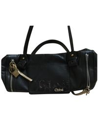 Chloé Black Leather Handbag