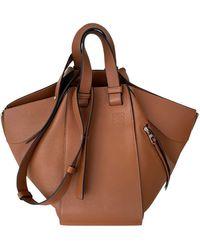 Loewe Hammock Leder Handtaschen - Mehrfarbig
