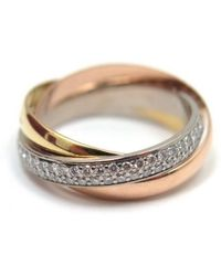Cartier - Trinity Gold Yellow Gold Ring - Lyst