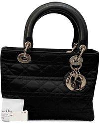 Dior Lady Leinen Handtaschen - Schwarz