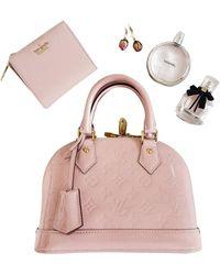 Louis Vuitton Bolso Alma BB de Charol - Rosa