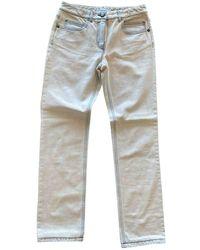 Chanel Blue Cotton Jeans - Multicolour