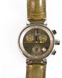 Louis Vuitton - Tambour Chronographe Silver Steel Watches - Lyst
