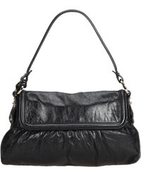 bfd7ea6a148b Lyst - Fendi Vintage Baguette Black Leather Handbag in Black