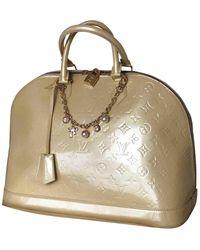 Louis Vuitton Borsa a mano in vernice beige Alma - Neutro