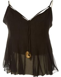 Chloé - Black Silk Top - Lyst