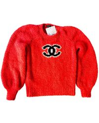 Chanel Wolle Pullover - Rot