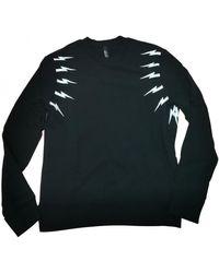 Neil Barrett Black Cotton Knitwear & Sweatshirt
