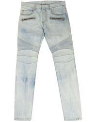 Balmain Jeans en Coton Bleu