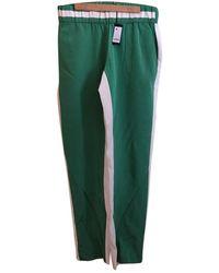 JOSEPH Cloth Trousers - Green
