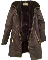 Michael Kors Faux Fur Dufflecoat - Black