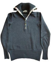 Burberry Black Cotton Knitwear