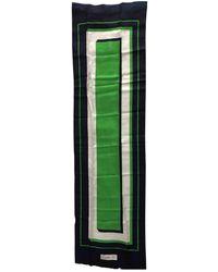 Carven Vintage Multicolour Silk Scarves - Green