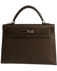 Hermès Borsa Kelly 32 in Pelle - Marrone