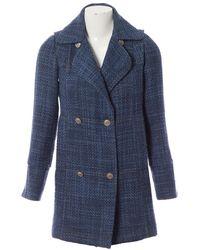 Chanel \n Blue Wool Coat
