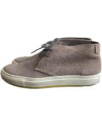 Acne Studios Grey Suede Boots