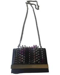 Philipp Plein Leather Handbag - Black
