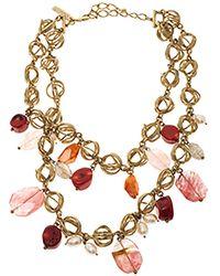 Oscar de la Renta Multicolour Metal Necklaces