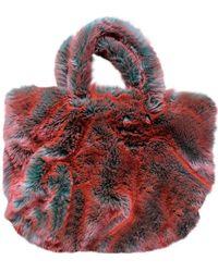 Dries Van Noten Faux Fur Handbag - Multicolor