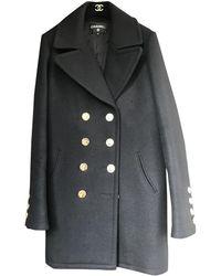 Chanel Black Cashmere Coats
