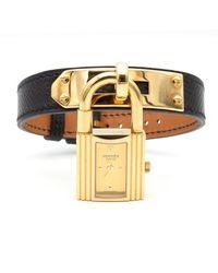 Hermès Reloj en chapado en oro dorado Kelly - Metálico