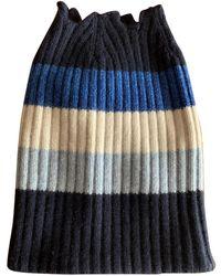 Burberry Cashmere Beanie - Blue