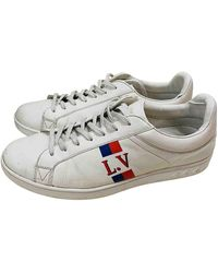 Louis Vuitton Luxembourg White Leather Trainers