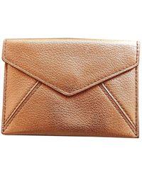 Delvaux Leather Card Wallet - Metallic