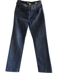 Ferragamo Blue Cotton Jeans