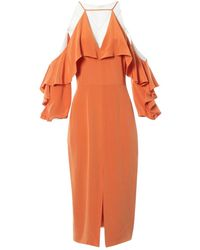 Cushnie et Ochs Robe en Soie Orange