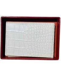 Rene Caovilla Leather Wallet - White