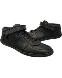 9a92de3e0263 Louis Vuitton Black Leather Trainers in Black for Men - Save 27% - Lyst