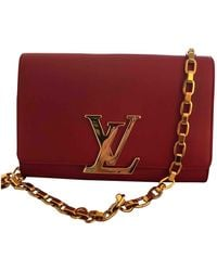 Louis Vuitton Louise Leather Handbag - Red