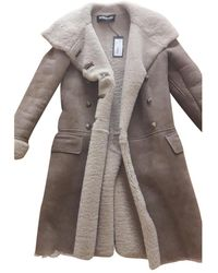 Balmain Shearling Coat - Natural