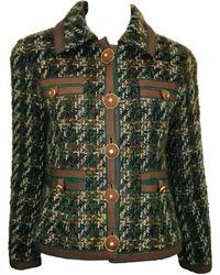 Chanel Vest en Laine Multicolore - Vert