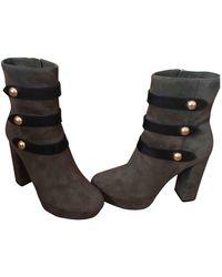 Michael Kors Khaki Suede Boots - Multicolour