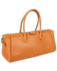 Hermès \n Orange Leather Handbag
