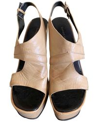 CoSTUME NATIONAL Leather Espadrilles - Natural