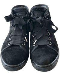 Louis Vuitton Baskets en Suede Noir