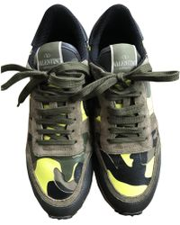 Valentino - Rockrunner Leather Trainers - Lyst