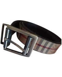 Burberry Leather Belt - Natural