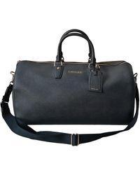 Michael Kors Black Leather Travel Bag