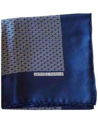 Hermès Chèches.Echarpes Pochette en Soie Bleu