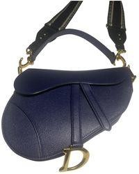 Dior Borsa a mano in pelle marina Saddle - Blu